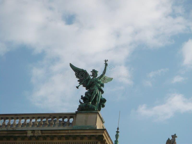 维也纳庄严雕塑  库存照片