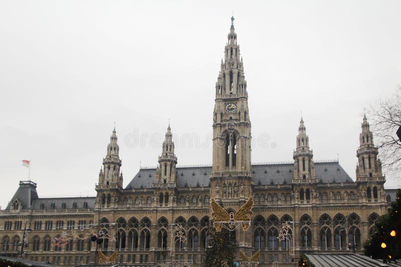 维也纳政府大厦,奥地利 库存图片