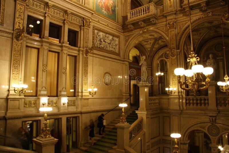 维也纳状态歌剧-内部 免版税库存图片