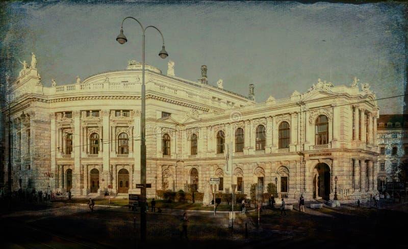 维也纳的历史建筑  免版税库存图片