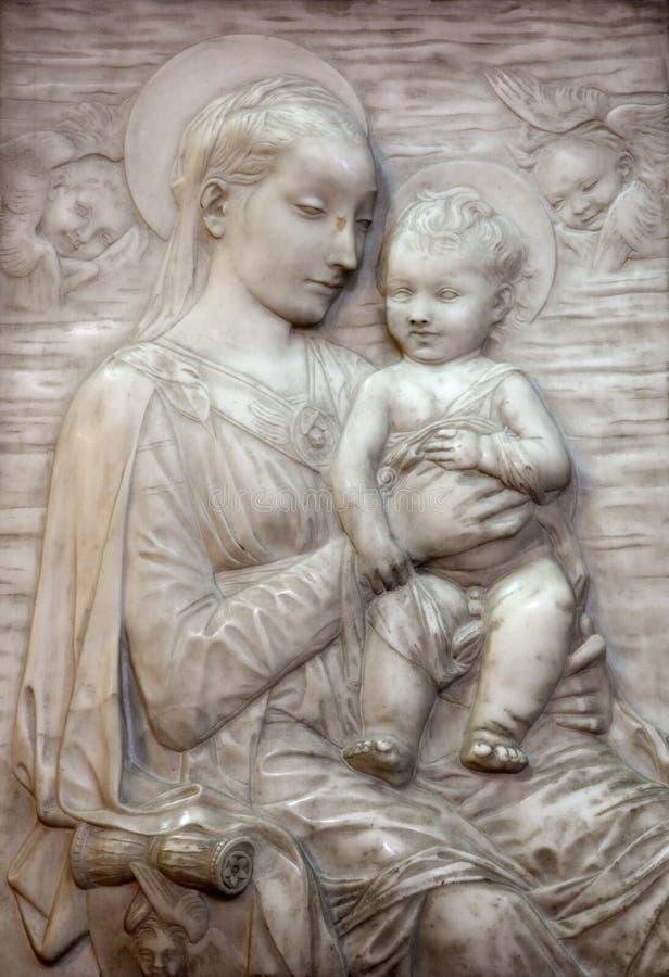维也纳-上帝的圣女玛丽亚母亲替补  免版税库存图片