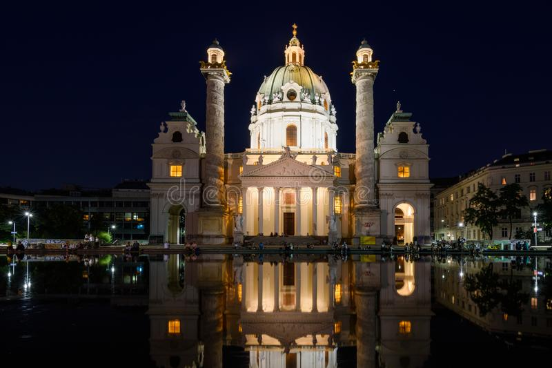 维也纳Karls教会 库存图片