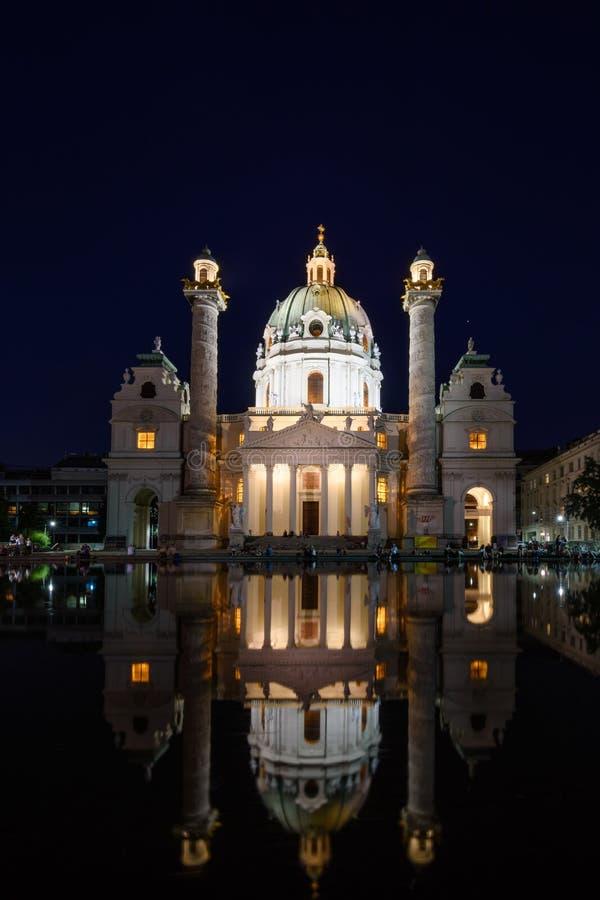 维也纳Karls教会 库存照片