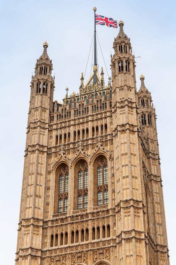 维多利亚塔,方形的塔 伦敦英国 免版税图库摄影