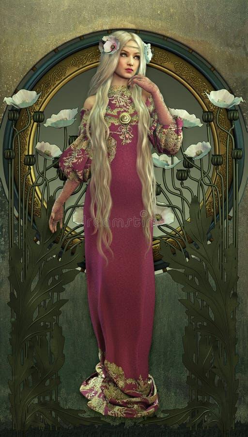 维多利亚女王时代的秀丽 库存例证