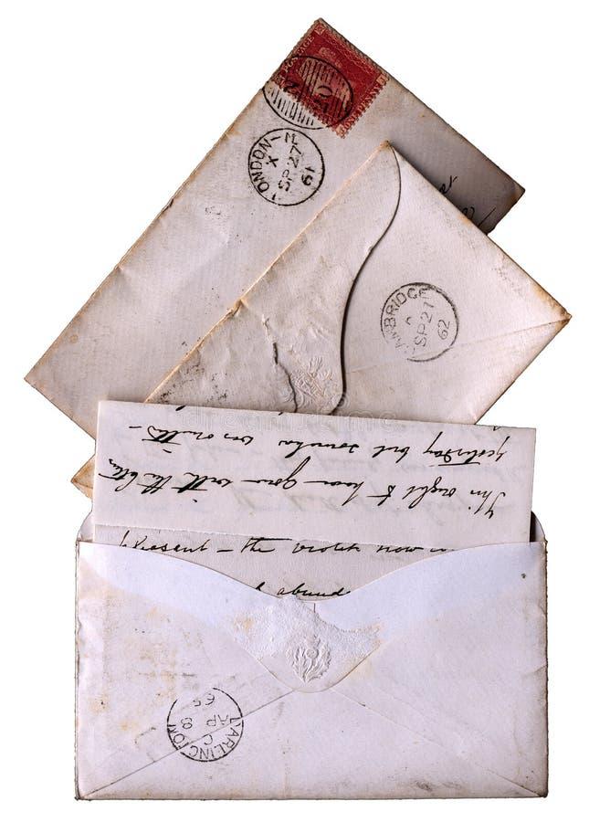 维多利亚女王时代19世纪60年代的信函 库存照片