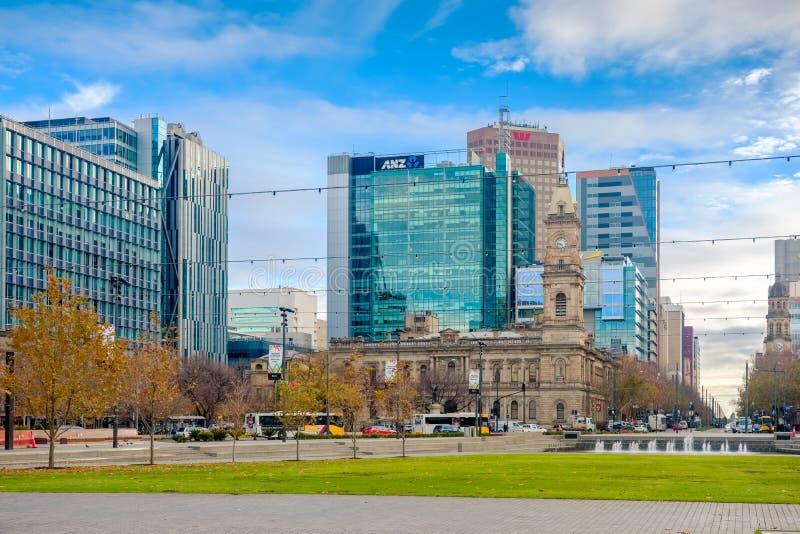 维多利亚广场,阿德莱德CBD,南澳大利亚 免版税库存图片