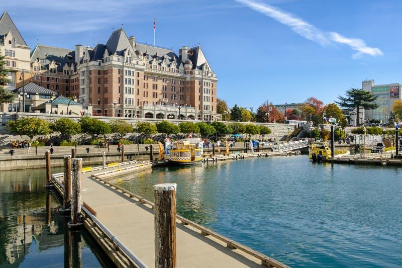 维多利亚港口内在港口在不列颠哥伦比亚省,加拿大 免版税图库摄影