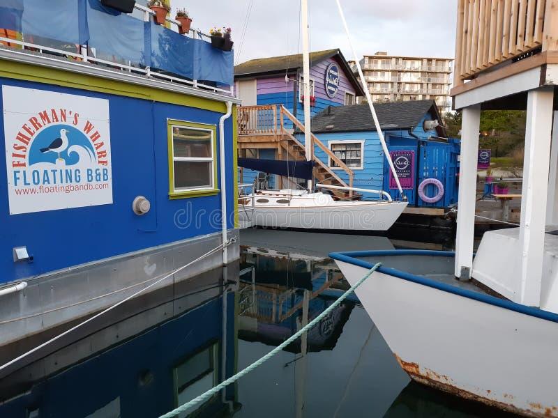 维多利亚港浮式餐厅 免版税库存图片