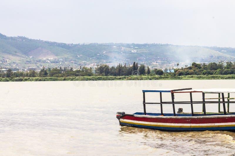 维多利亚湖看法在基苏木 免版税图库摄影