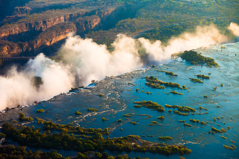 维多利亚瀑布天线 库存图片