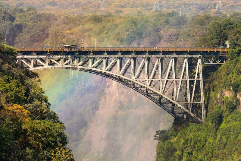 维多利亚瀑布桥梁 免版税图库摄影