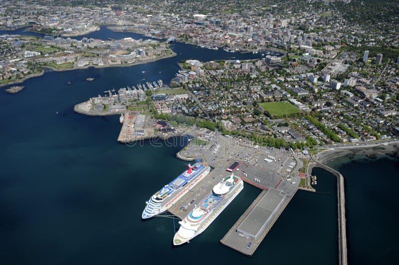 维多利亚的空中图象, BC,加拿大 免版税库存图片