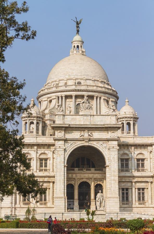 维多利亚纪念堂在加尔各答 库存照片