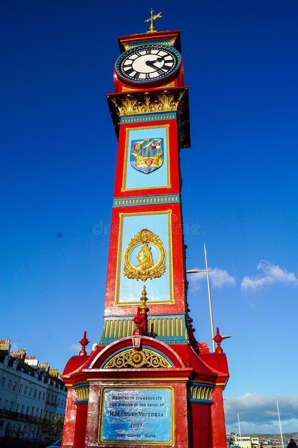 维多利亚钟楼韦茅斯 免版税图库摄影