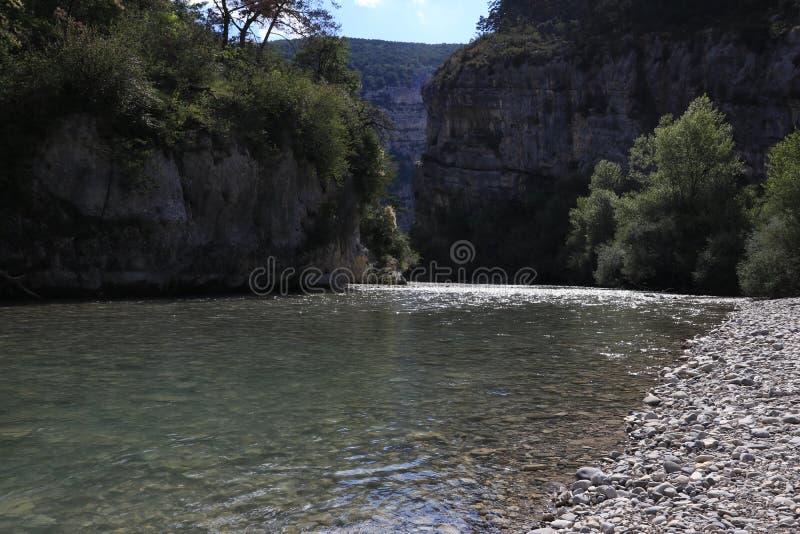 维尔东峡谷在法国普罗旺斯,维尔东du Gorges 库存照片