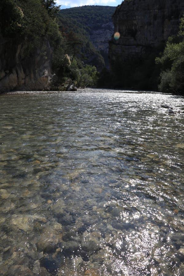 维尔东峡谷在法国普罗旺斯,维尔东du Gorges 免版税库存照片