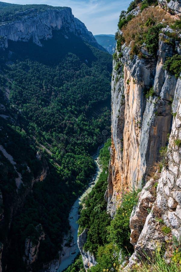 维尔东Gorge Gorges在der欧特普罗旺斯的du维尔东 免版税库存图片