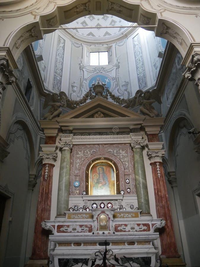 维尔京圣所在博比奥 免版税库存图片