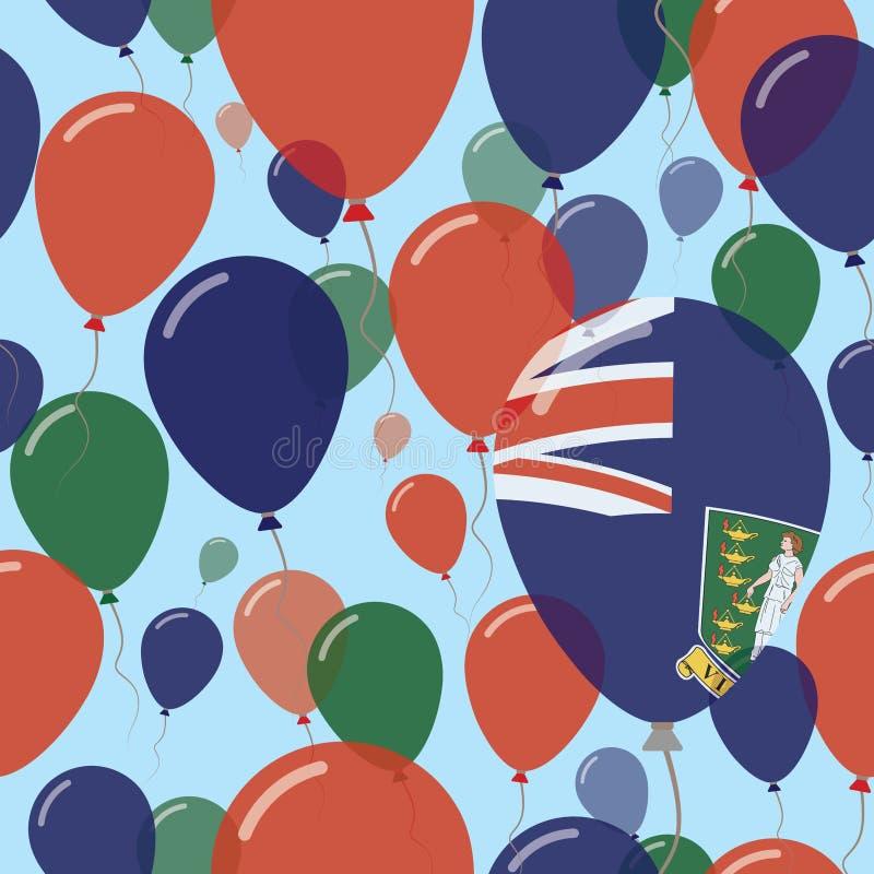 维尔京群岛,英国平的国庆节 皇族释放例证