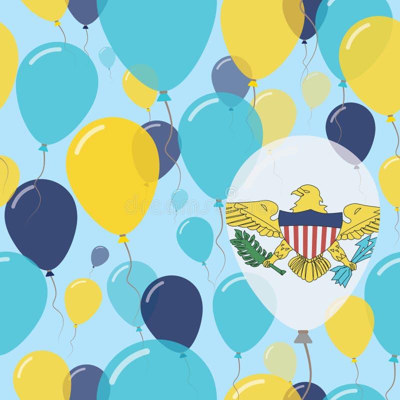 维尔京群岛, U S 平展无缝的国庆节 向量例证