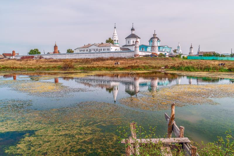 维尔京Bobrenev修道院的诞生 Kolomna ?? 库存图片