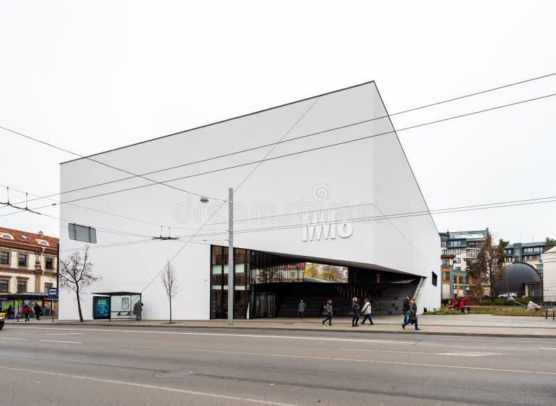 维尔纽斯,立陶宛- 2018年11月7日:MO现代美术美术馆维尔纽斯 免版税图库摄影