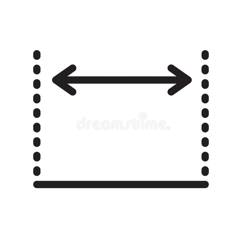 维度象在白色backgro和标志隔绝的传染媒介标志 向量例证
