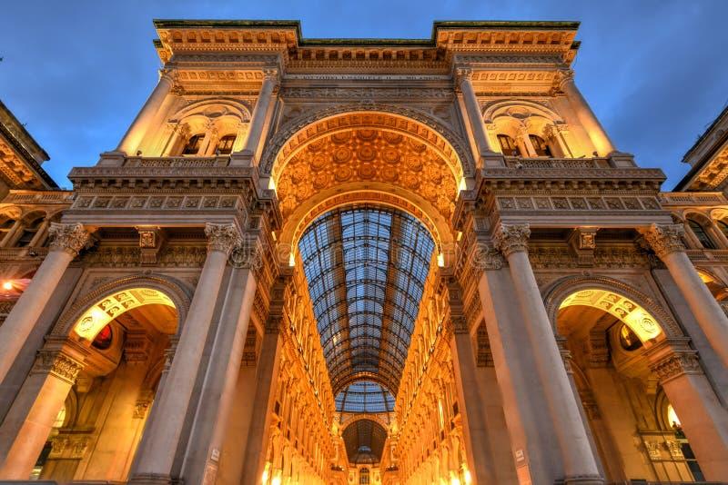 维托里奥Emanuele II画廊-米兰,意大利 库存图片