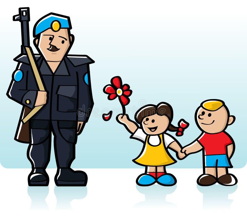 维护和平的人 向量例证