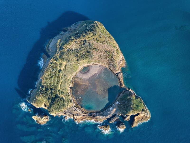 维拉弗朗卡小岛做园地,亚速尔群岛,葡萄牙 库存照片