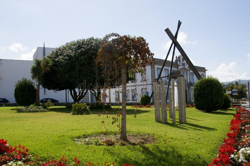 维拉Nova de Cerveira,葡萄牙 库存图片