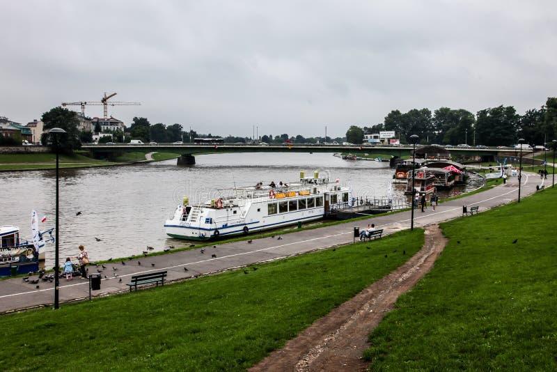 维斯瓦河视图 图库摄影