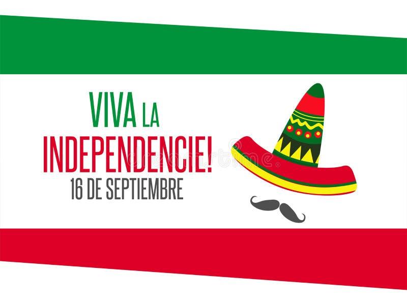 维瓦墨西哥,传统墨西哥词组假日 皇族释放例证