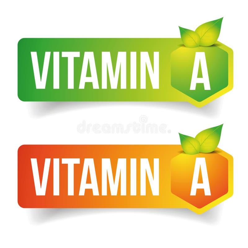 维生素A标签传染媒介标记 向量例证