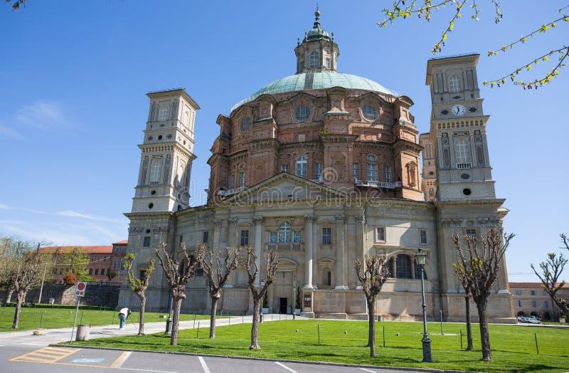 维科福尔泰圣所,库尼奥省,皮耶蒙特,意大利,最大的省略圆顶在世界上 库存照片