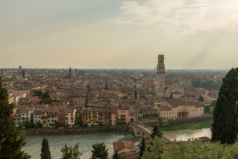 维罗纳从上面 免版税库存图片