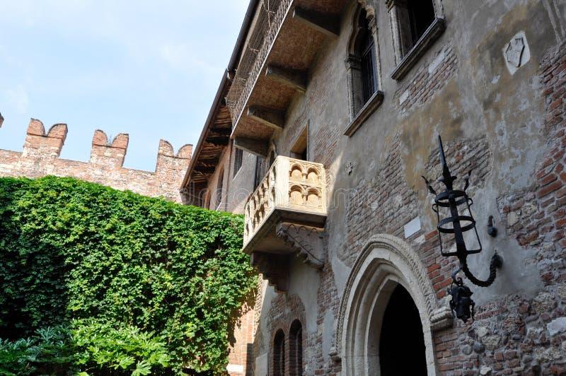 维罗纳意大利Giulietta阳台  免版税库存图片