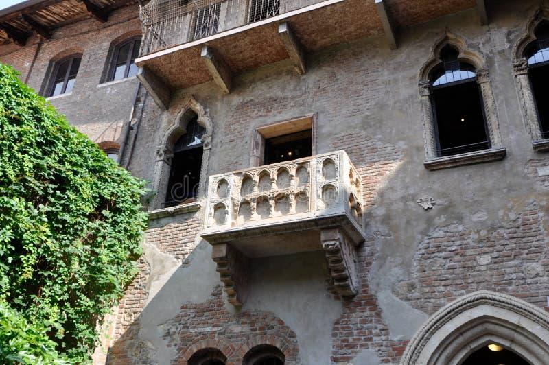 维罗纳意大利Giulietta阳台  库存图片