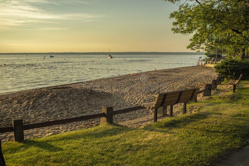 维罗纳海滩岸线景观 免版税库存照片