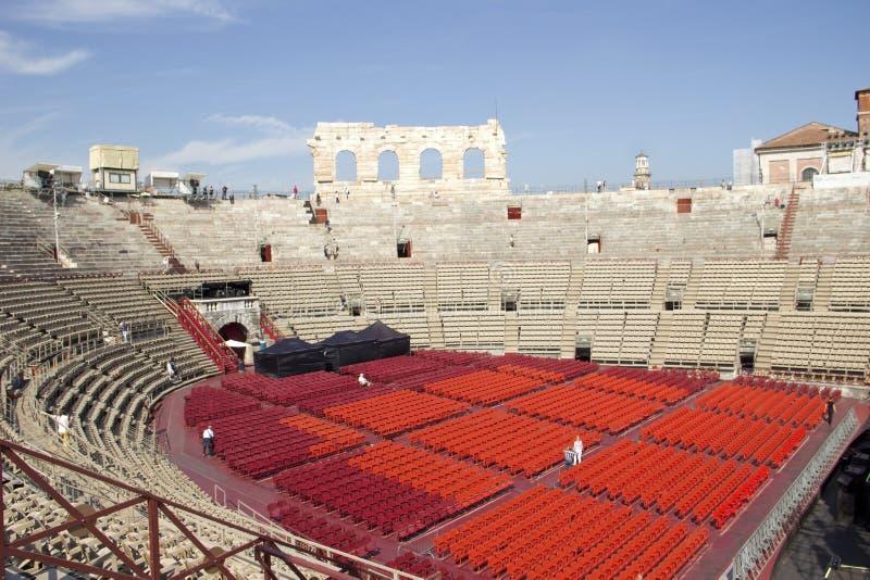 维罗纳罗马竞技场  免版税库存照片