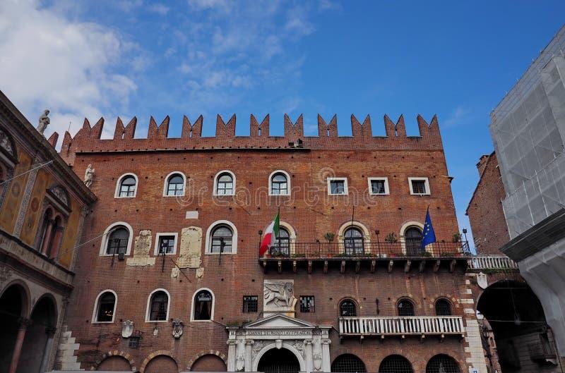 维罗纳,广场dei Square绅士 库存照片
