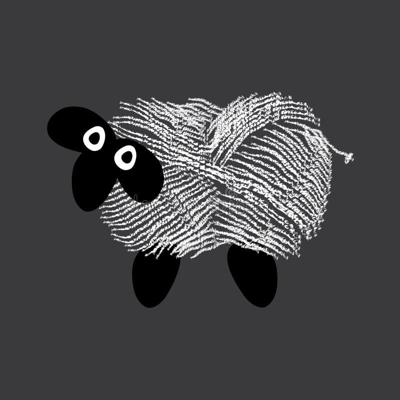 绵羊全部包含与已经被处理的羊毛 皇族释放例证