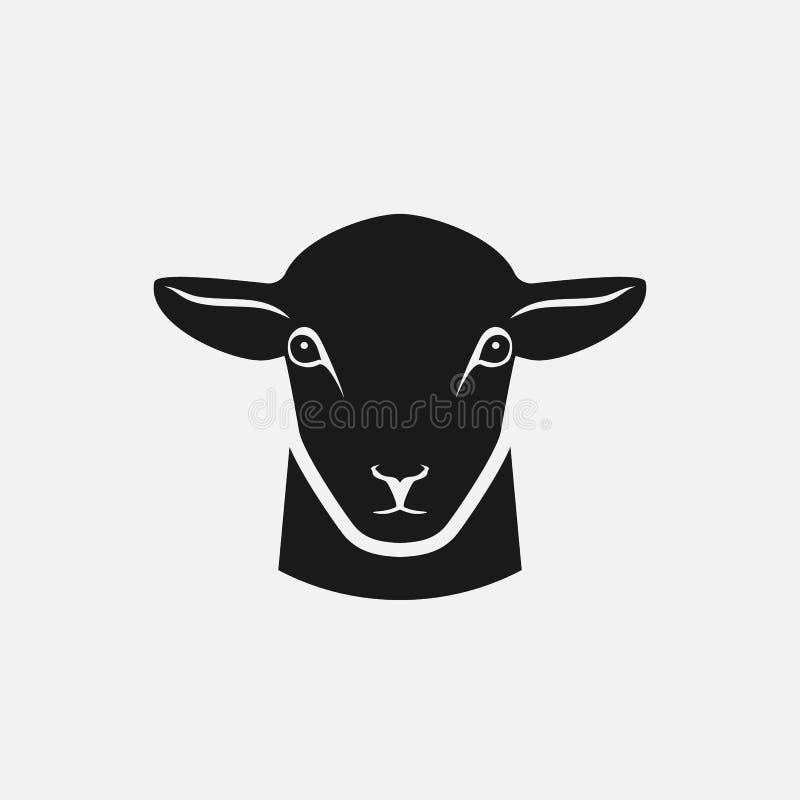 绵羊剪影头  皇族释放例证