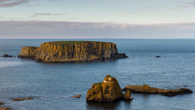 绵羊海岛,北爱尔兰 库存照片