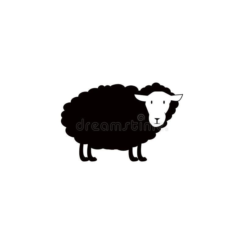 绵羊象 农场的元素流动概念和网apps的 网站设计和发展的, app发展象 优质ico 库存例证