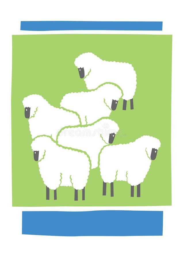 绵羊 库存例证