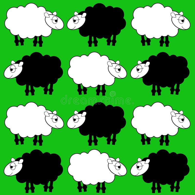 绵羊 皇族释放例证