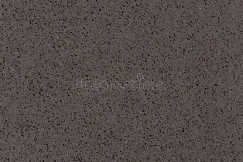 综合性石英石头纹理,深灰口气 免版税库存照片