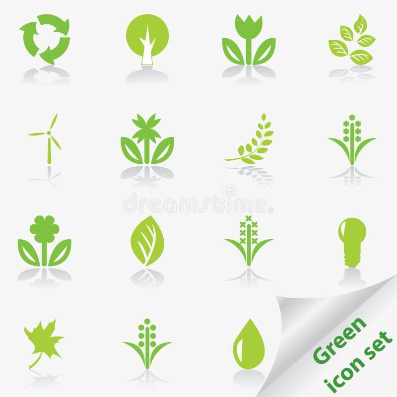 绿化图标集 向量例证